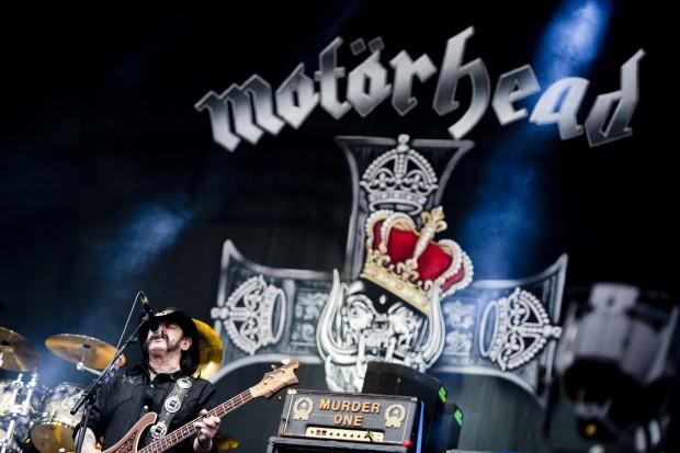 Lemmy Kilmister, Motorhead frontman performs during the Fortarock Festival in Nijmegen, the Netherlands, on June 1, 2013. (Xinhua/Robin Utrecht)