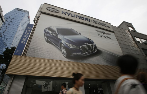 A Hyundai showroom in South Korea. (AP Photo/Lee Jin-man)