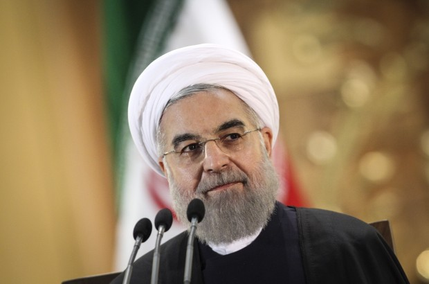 Iranian President Hassan Rouhani attends a press conference in Tehran, Iran, on Jan. 17, 2016. Rouhani on Sunday called on international enterprisers to participate in its economy after the comprehensive deal on Tehran's nuclear program officially took effect on Saturday. (Xinhua/Ahmad Halabisaz)