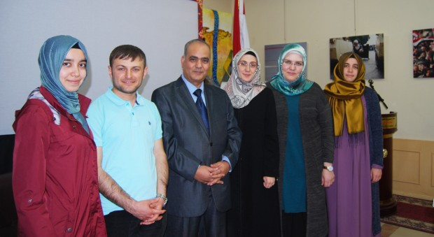 A picture of the author with Turkish students studying in Kuwait university