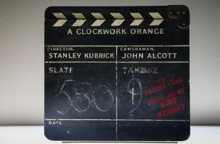 Film slate from 'A Clockwork Orange'' production.