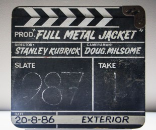 Film slate from 'Full Metal Jacket' production.