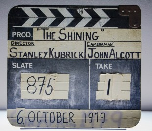 Film slate from 'The Shining' production.