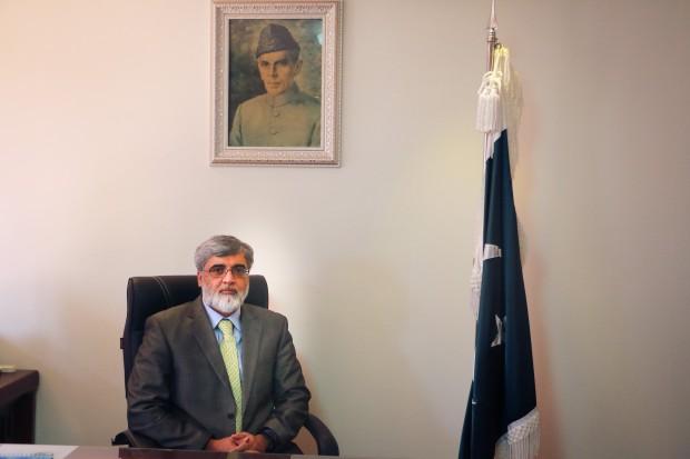 Pakistan Ambassador to Korea, Mr. Zahid Nasrullah Khan at the Embassy of Pakistan, Seoul. (Photo: Rahul Aijaz)