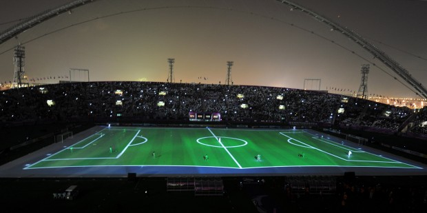 Khalifa stadium in Doha, capital of Qatar. (Xinhua/Chen Shaojin)