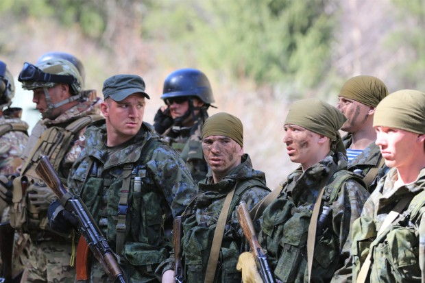 Soldiers participate in the exercise of Shanghai Cooperation Organization (SCO) member states near Bishkek, capital of Kyrgyzstan. (Xinhua/Roman) (zhf)