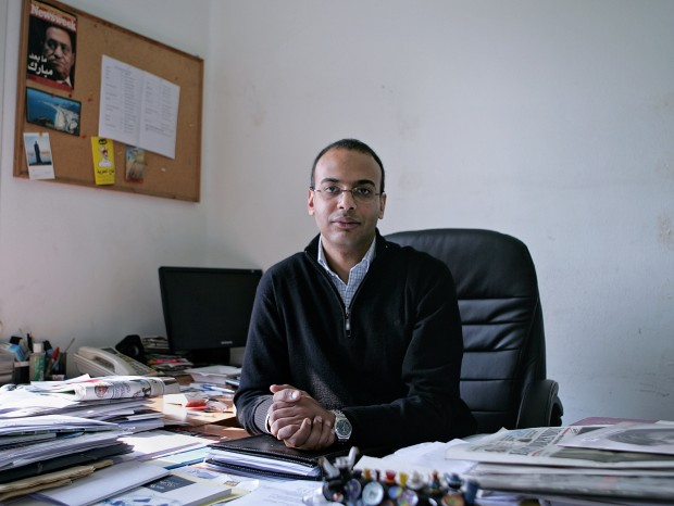 Egyptian judicial commission has ordered the assets of four people frozen, including Hossam Bahgat, one of the country's most prominent investigative journalists and the head of Arabic Network for Human Rights Information Gamal Eid. (Sarah Rafea via AP, File) MANDATORY CREDIT