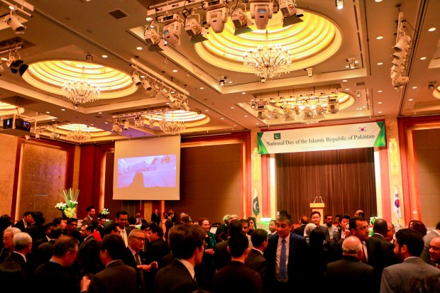 Pakistan Day reception at Lotte Hotel, Seoul on March 23, 2016.
