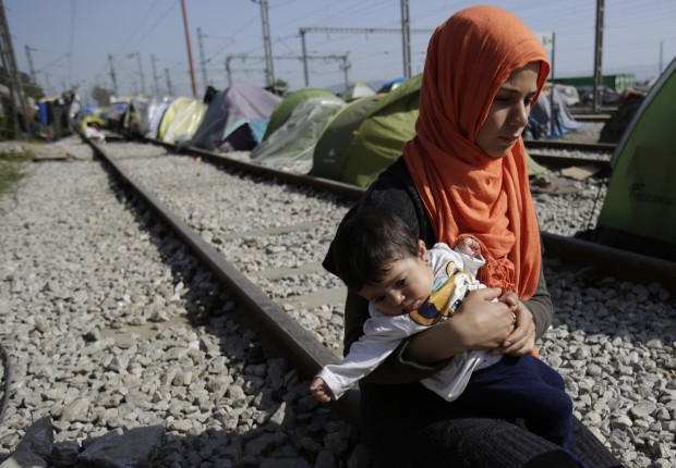 Migrants and refugees stranded in Idomeni, find shelter in train 'sleeping cars'. About 11,000 migrants remain stuck in Idomeni, most of them for over a month, not knowing how to deal with the shut European borders. (AP Photo/Amel Emric)