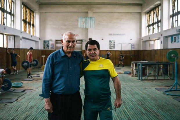 Felix Aliyev (left) with his student, Yurij Sarkisyan (right).. Photographer:: Jacob Balzani Lööv