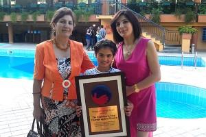 Asmik Khachatryan with her daughter and mother, Rima.