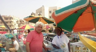 Artist Abdel Wahhab with artist from Senegal