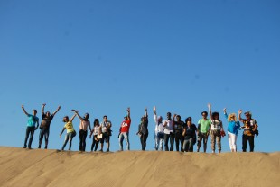 Group photos was at the top of the sandy mountain of  Al-Narjis.