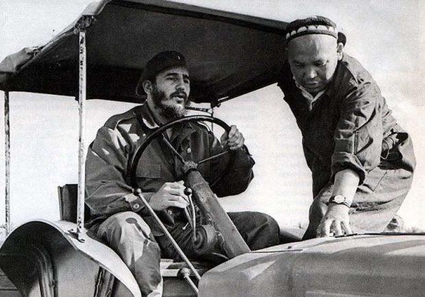 Fidel Castro in Soviet Uzbekistan.