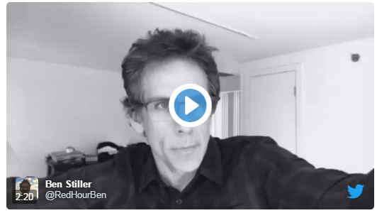 Actor Ben Stiller joining the social media campaign