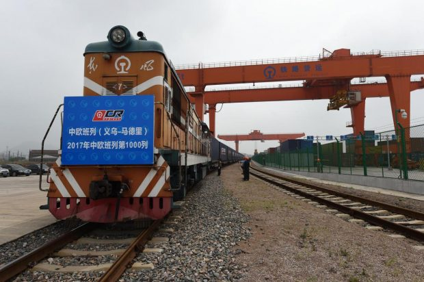 Carting small commodities, clothing and other goods, China-Europe Railway Express No. X8024 (Yiwu-Madrid) trundled out of Yiwu West Station on May 13, 2017, a day before the Belt and Road Forum for International Cooperation kicked off. It was embarking on the 1,000th trip along the railroad freight line this year. A total of 612 more trips have been seen this year, up 158% compared with the same period last year.