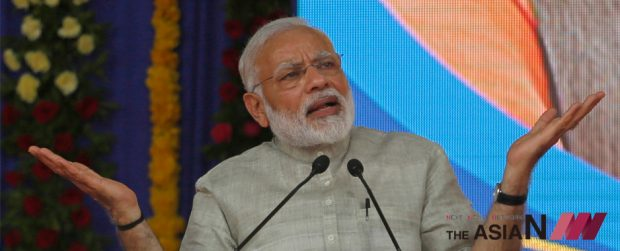 On June 30, 2017, Indian Prime Minister Narendra Modi speaks at an event a day before the implementation of the nationwide Goods and Services Tax in Ahmadabad, India.