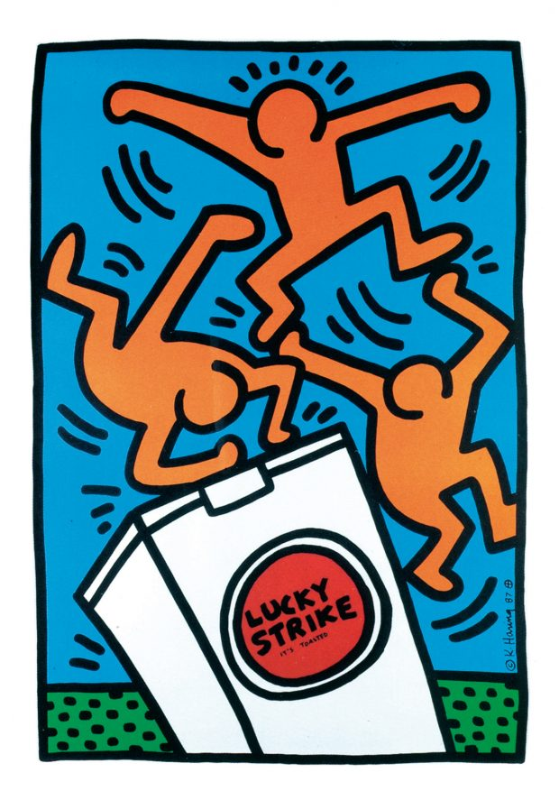 KEITH HARING_Lucky Strike II, 1987. Photo: courtesy of M Contemporary