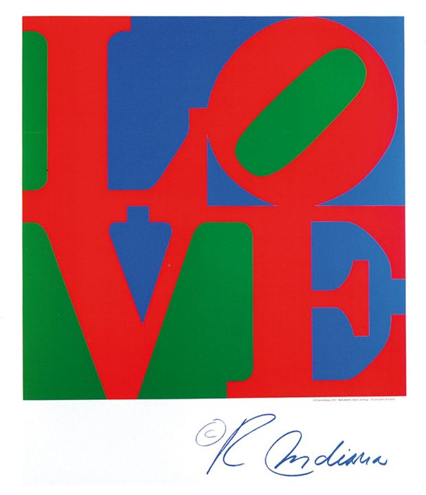 ROBERT INDIANA_ Classic Love,2002. Photo: courtesy of M Contemporary