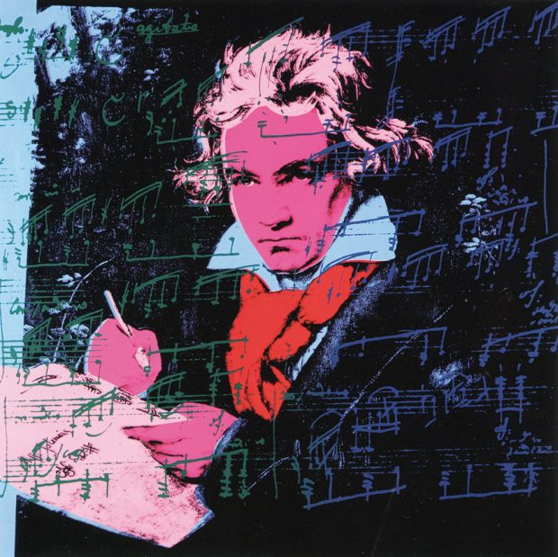 ANDY WARHOL_Beethoven II. 392 , 1987. Photo: courtesy of M Contemporary