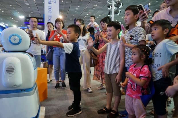 The four-day 2017 World Internet of Things Expo in eastern China's Wuxi city on September 10, 2017. (Photo from CFP)