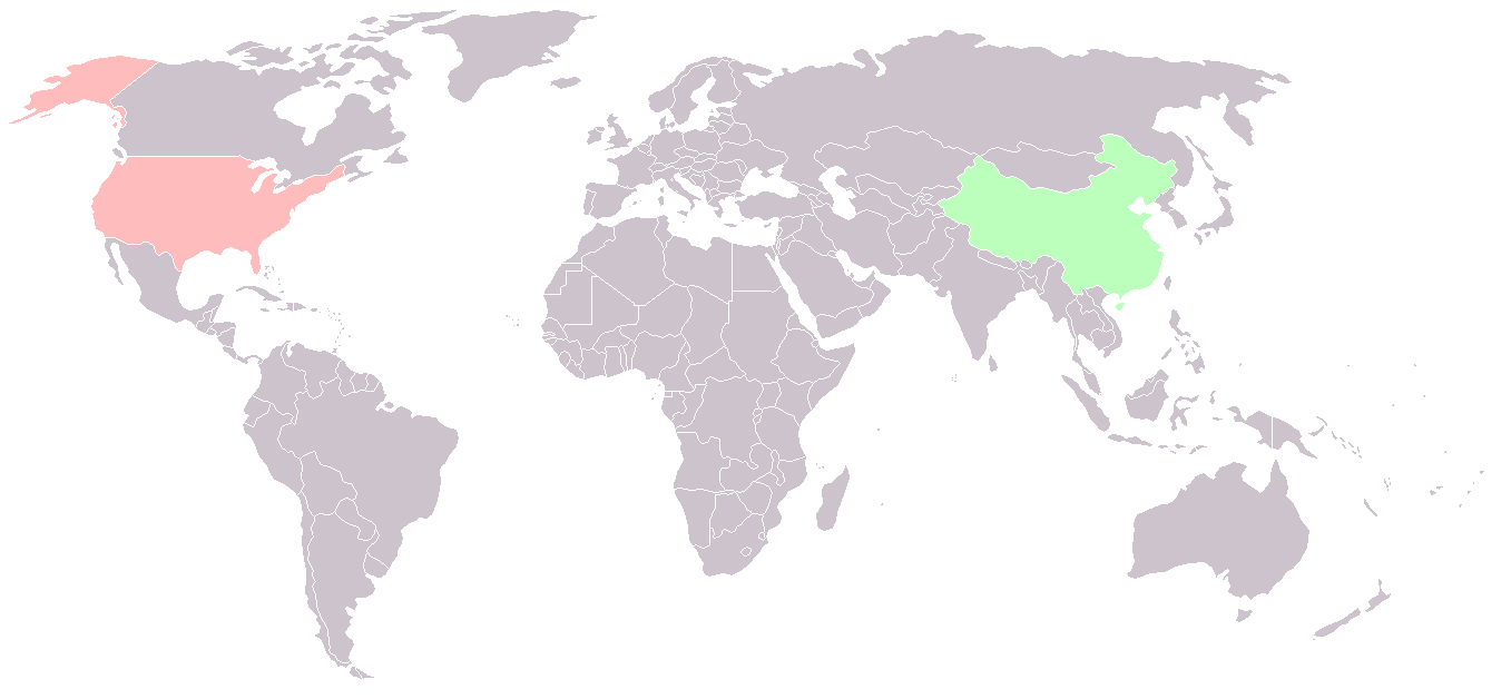 China Usa Locator