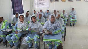 Desert Women attending driving class