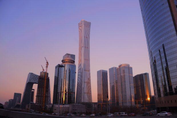 December 19th, 2018, view of Beijing CBD