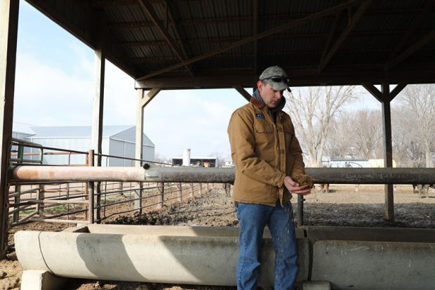 Lowell Neitzel, a fourth-generation rancher of the Bismarck ranch in Kansas, said his ranch has been going through a hard time since last year because of the tariffs. The US government provided $12 billion in subsidies in 2018 to aid the American ranchers whose interests were damaged in the trade war. However, the subsidies were far from enough when compared with what the farmers lost, Neitzel said. (Photo by Wu Lejun from People's Daily)