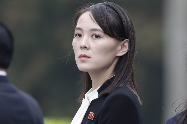 epa07407806 Kim Yo-jong, sister of North Korea's leader Kim Jong-un, attends wreath laying ceremony at the Ho Chi Minh Mausoleum in Hanoi, Vietnam, 02 March 2019.  EPA/JORGE SILVA / POOL