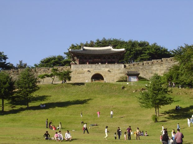 front-view-of-sangdang-sanseong-in-cheongju-south-korea