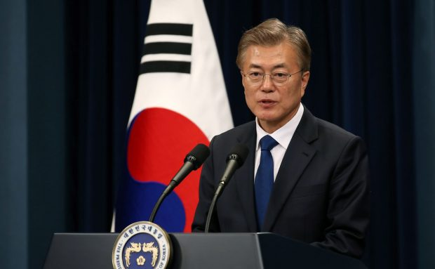 Moon Jae-in the 19th President of Republic of Korea  The 1st Press Conference  May 10, 2017  Cheong Wa Dae, Seoul  Ministry of Culture, Sports and Tourism Korean Culture and Information Service Korea.net (www.korea.net) Official Photographer : Jeon Han  This official Republic of Korea photograph is being made available only for publication by news organizations and/or for personal printing by the subject(s) of the photograph. The photograph may not be manipulated in any way. Also, it may not be used in any type of commercial, advertisement, product or promotion that in any way suggests approval or endorsement from the government of the Republic of Korea.   ----------------------------------------------------  ??? ???? ?19? ??? ????   2017-05-10  ???  ??????? ??????? ???? ??
