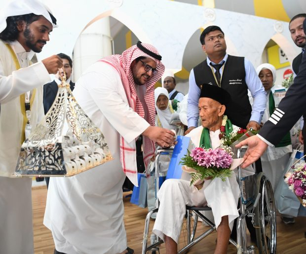 Ohi Aidros Samri  arrives to a special welcome in Jeddah - SPA