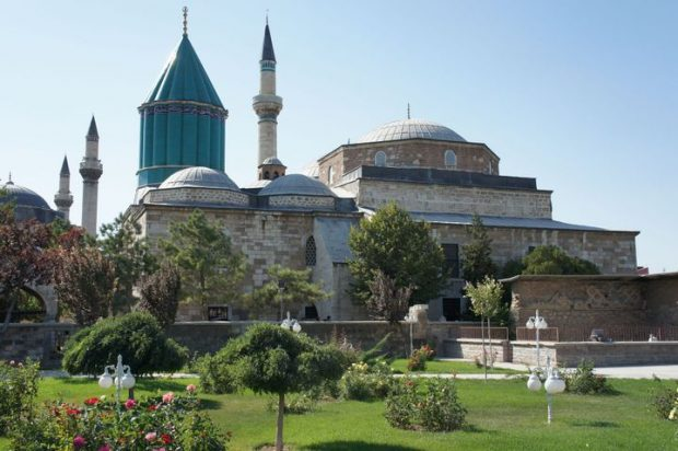 Rumi's museum next to a mosque in Konya