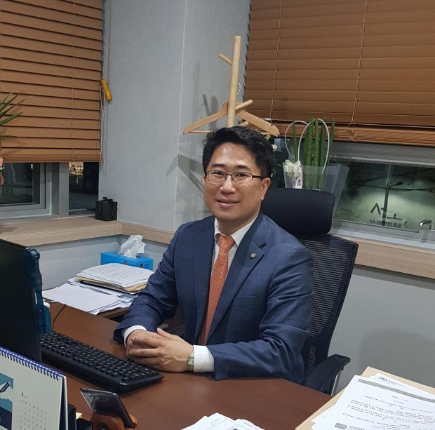 Park Won-yeon at his office in Seocho-gu, Seoul