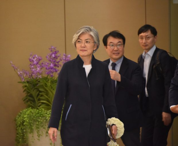 Kang Kyung-wha, Minister of Foreign Affairs of the Republic of Korea, upon arrival in Bangkok (ASEAN Secretariat)