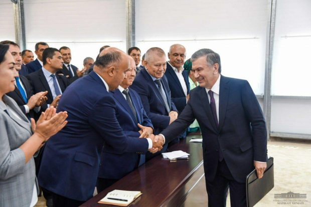 President Mirziyoyev during the visit – Uzbekistan news agency