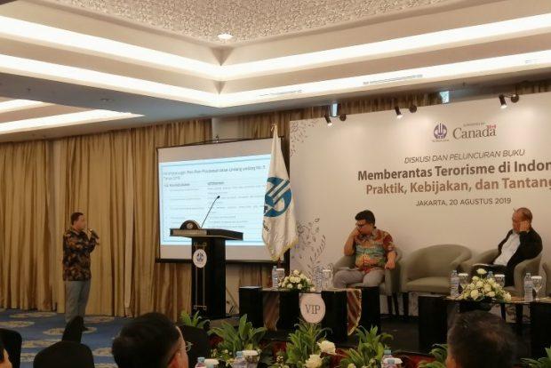 Ansori at the discussion on terrorism in Jakarta (ANTARA)