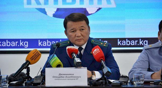 Dzhamshitov addressing the media conference - Kabar