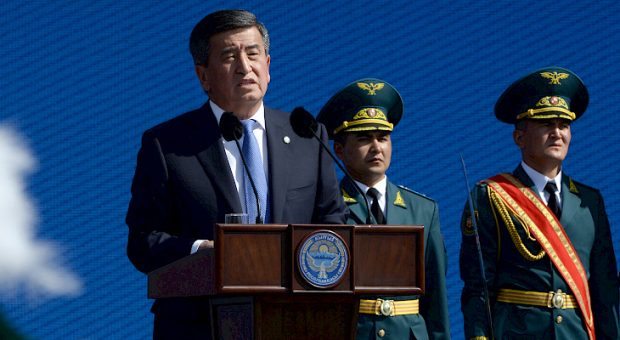 President Sooronbay Jeenbekov congratulating Kyrgyzstan on its Independence Day (Kabar)