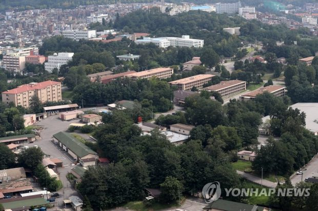 This photo, taken Sept. 1, 2019, shows the Yongsan Garrison in central Seoul (Yonhap)