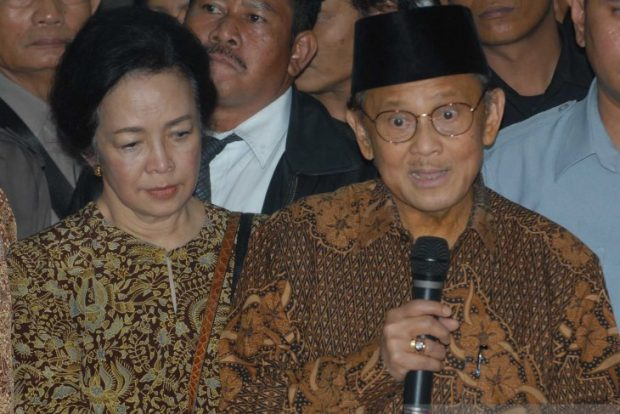 BJ Habibie and his wife Ainun in 2008 (Antara)