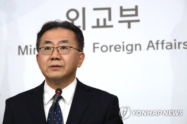 Kim In-chul speaks during a press briefing in Seoul on April 23, 2019 (Yonhap)