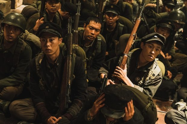 "This image provided by Warner Bros. Korea shows a scene from ""Battle of Jangsari""  (Yonhap)"
