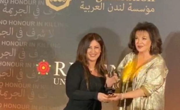 Ahdeya receiving her award (BNA)