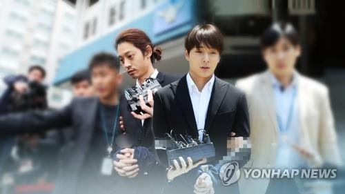 This composite file photo shows Jung Joon-young (L) and Choi Jong-hoon. (Yonhap)