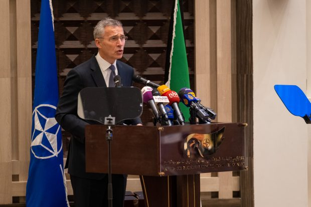 NATO Secretary General Jens Stoltenberg during the Istanbul Cooperation Initiative Anniversary Ceremony at the NATO-ICI Regional Centre in Kuwait (NATO)