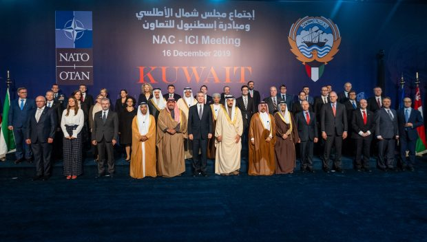 Family portrait of the North Atlantic Council with the ICI Countries and the participation of the Gulf Cooperation Council, the Sultanate of Oman and the Kingdom of Saudi Arabia (NATO)