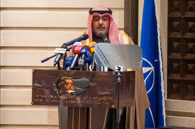 Shaikh Thamer Ali Sabah Al Salem Al Sabah, President of the Kuwait National Security Bureau during the Istanbul Cooperation Initiative Anniversary Ceremony at the NATO-ICI Regional Centre in Kuwait (NATO)