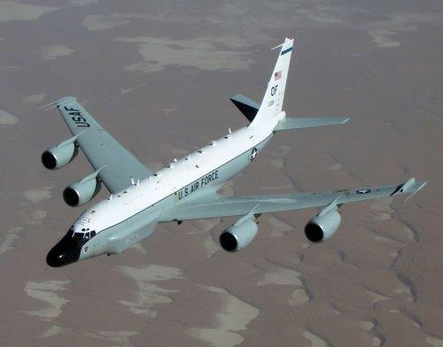 This image, captured from the website of the U.S. Air Force, shows a RC-135W Rivet Joint reconnaissance plane. (Yonhap)